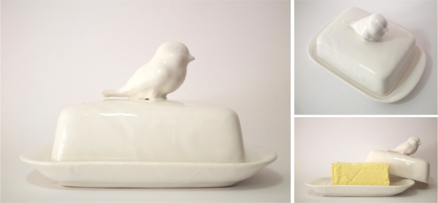 bird butterdish