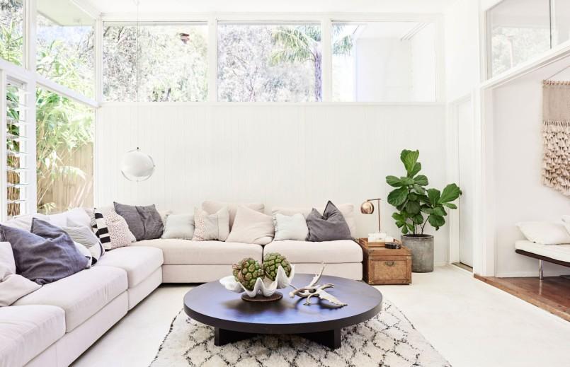 lounge plant white